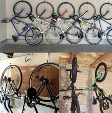 Load image into Gallery viewer, Amazon best garage hooks cheaboom heavy duty bike storage hooks wall hooks screw in utility storage hangers shed garage garden hook plastic coated for wall mount ceiling grey square bike hook x 6