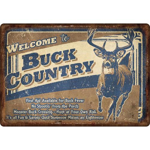 Buck Country Tin Sign 12