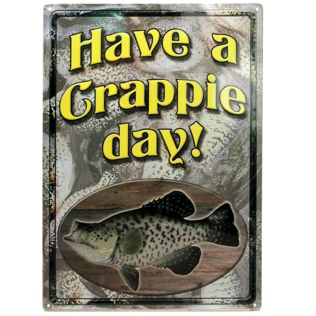 Tin Sign - Crappie Day, Size 12