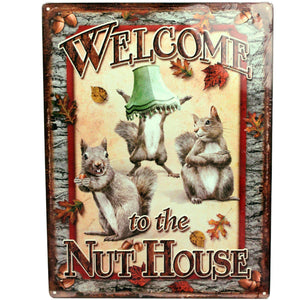 "Tin Sign - Nut House, Size 12"" x 17"""