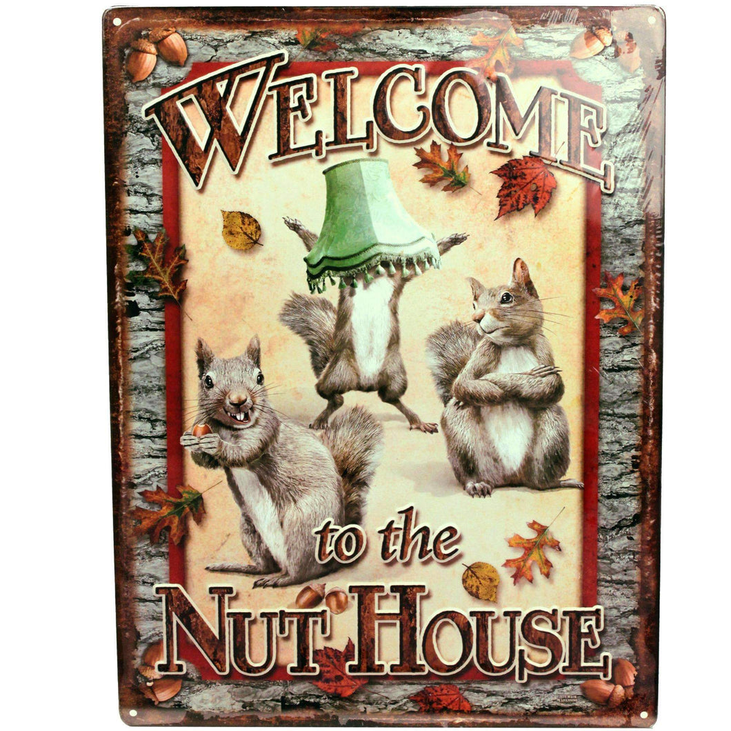 Tin Sign - Nut House, Size 12