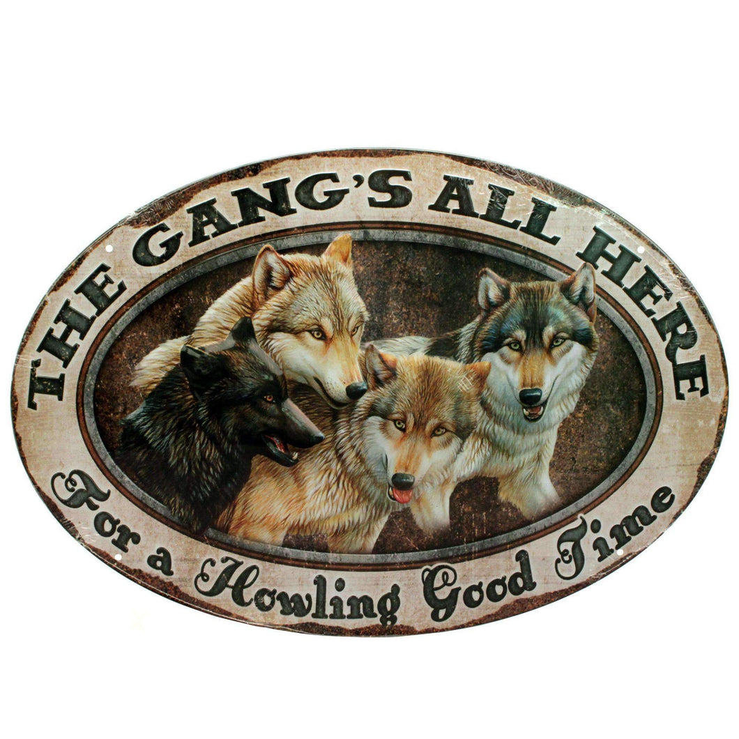Tin Sign - The Gang's All Here, Size 12