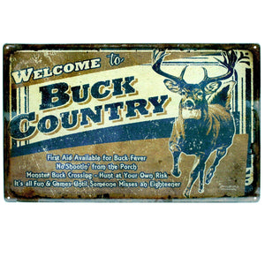 "Tin Sign - Buck County, Size 12"" x 17"""