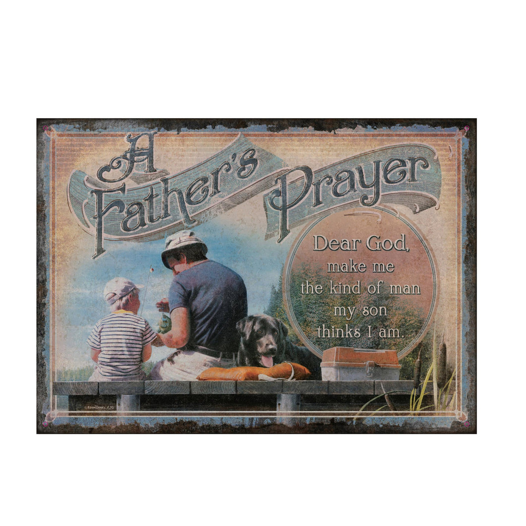 A Son's Prayer Tin Sign 12x17