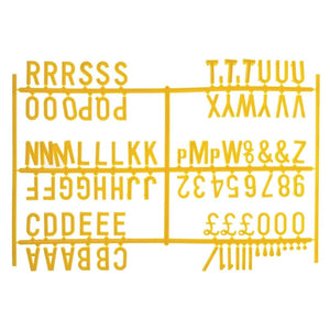 Beaumont Peg Board 20mm Letters 540 Characters Yellow