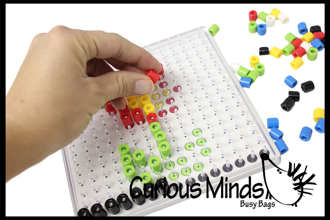 Bead Pegboard and Pictures - Fine Motor Learning Toy