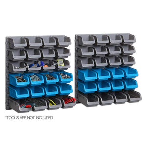 48 Storage Bin Rack Wall-Mounted Tool Parts Organiser