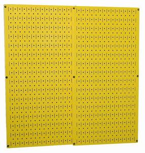 "Yellow Metal Pegboard Pack - Two 16"" x 32"" Pegboard Tool Boards"