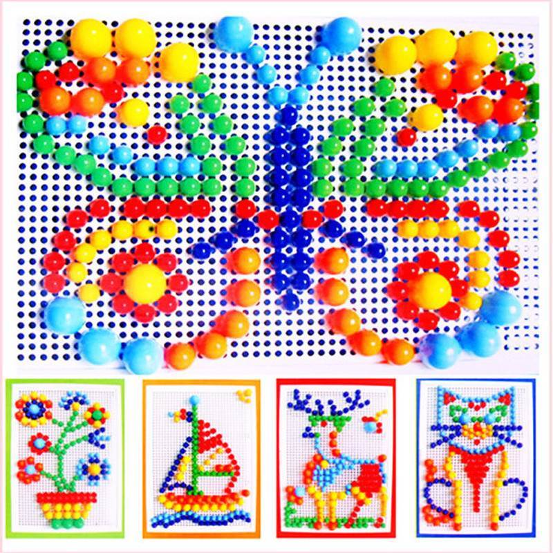 296 piece colourful peg board