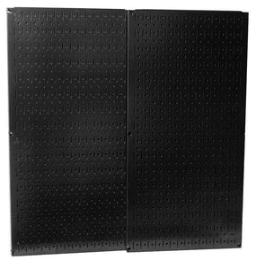 "Black Metal Pegboard Pack - Two 16"" x 32"" Pegboard Tool Boards"