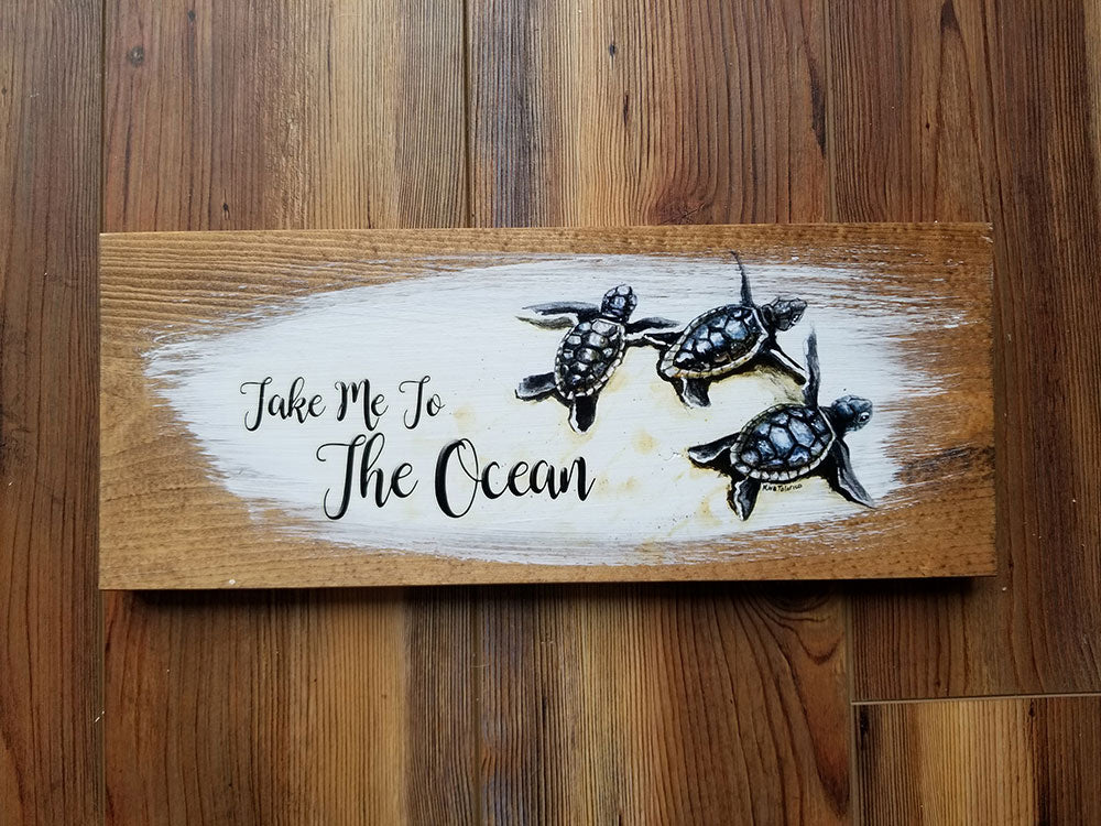 5 x 12 take me to the Ocean Artwork