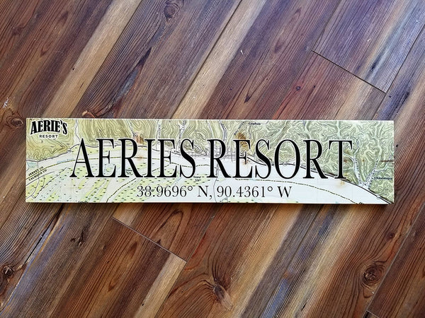 Aeries Resort Coordinate Sign