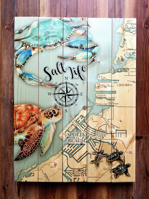 Apollo Beach, FL Salt Life Pallet Map