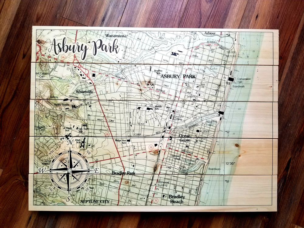Ashbury Park, NJ Pallet Map