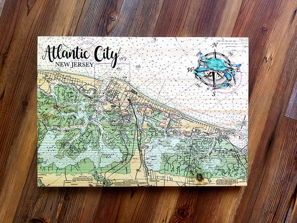 Atlantic City, NJ Plank Map