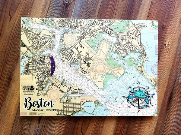 Boston, MA Plank Map