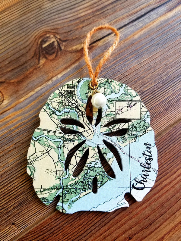 Charleston, SC Sanddollar Ornament