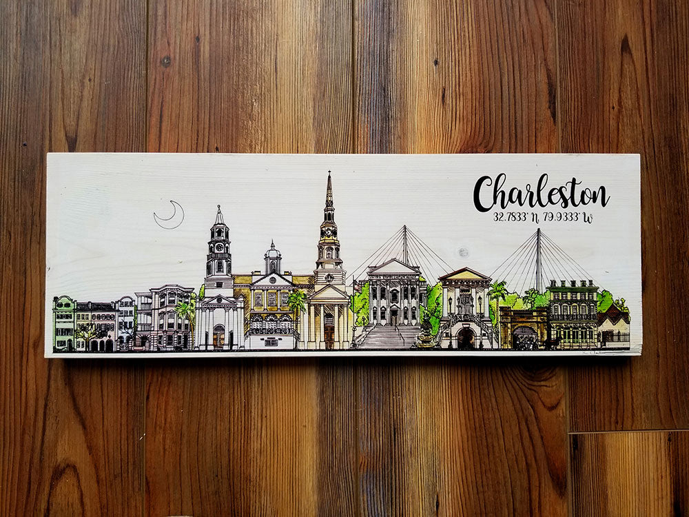 Charleston, SC City Skyline Artwork