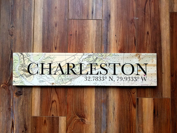 Charleston, SC Coordinate Sign