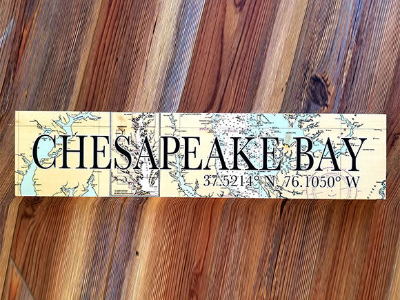 Chesapeake Bay Coordinate Sign