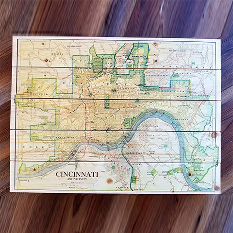 Cincinnati, OH Pallet Map
