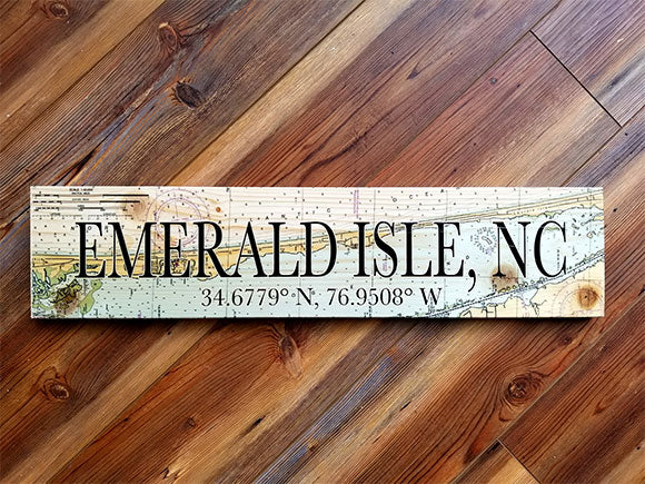 Emerald Isle, NC Coordinate Sign