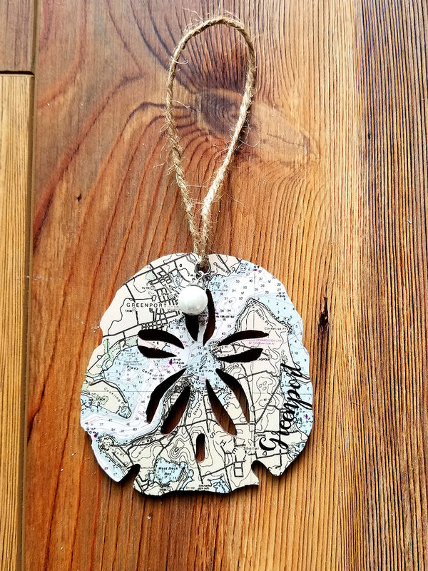 Green Port, NY Sanddollar Ornament