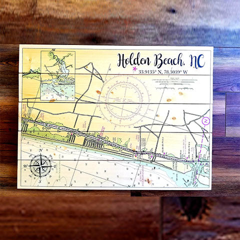 Holden Beach, NC Pallet Map