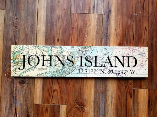 Johns Island, SC Coordinate Sign