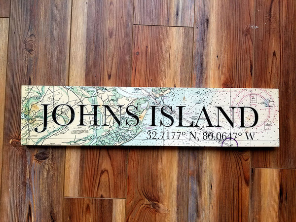 Johns Island SC Coordinate Sign