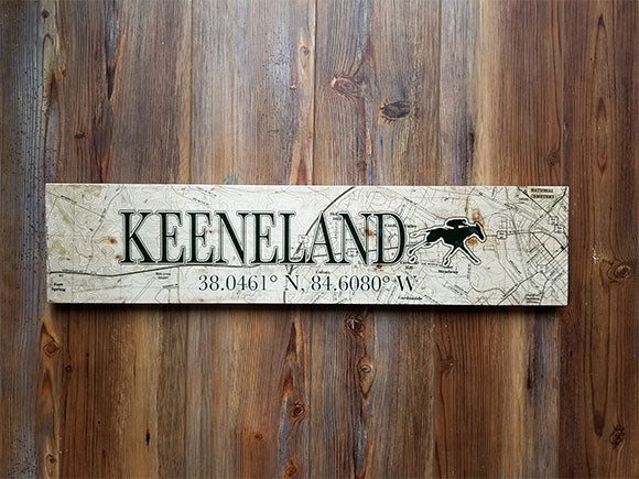 Keeneland, KY Coordinate Sign
