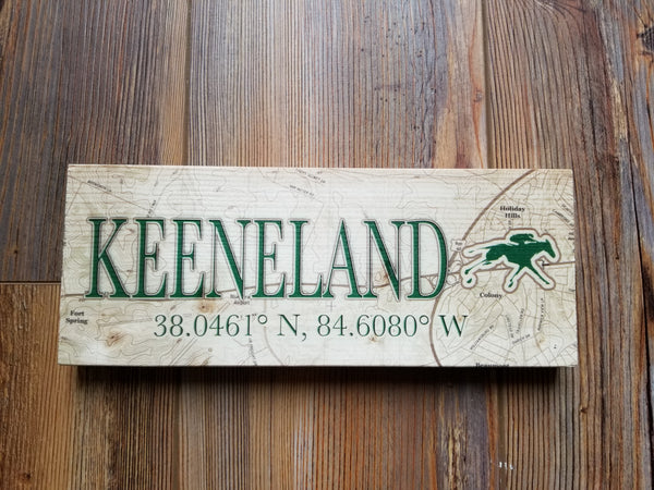 Keeneland, KY Mini Coordinate Sign