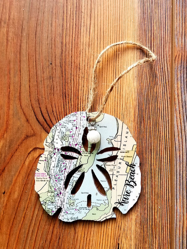 Kure Beach, NC Sand dollar Ornament