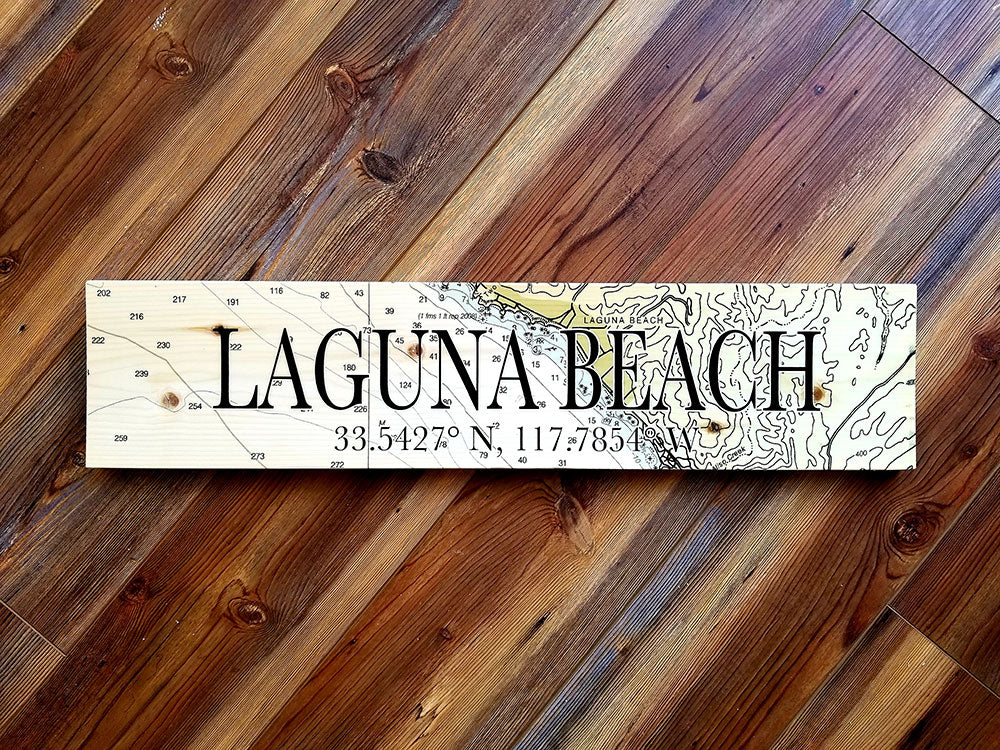 Laguna Beach Coordinate Sign