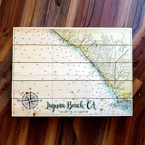 Laguna Beach, CA Pallet Map