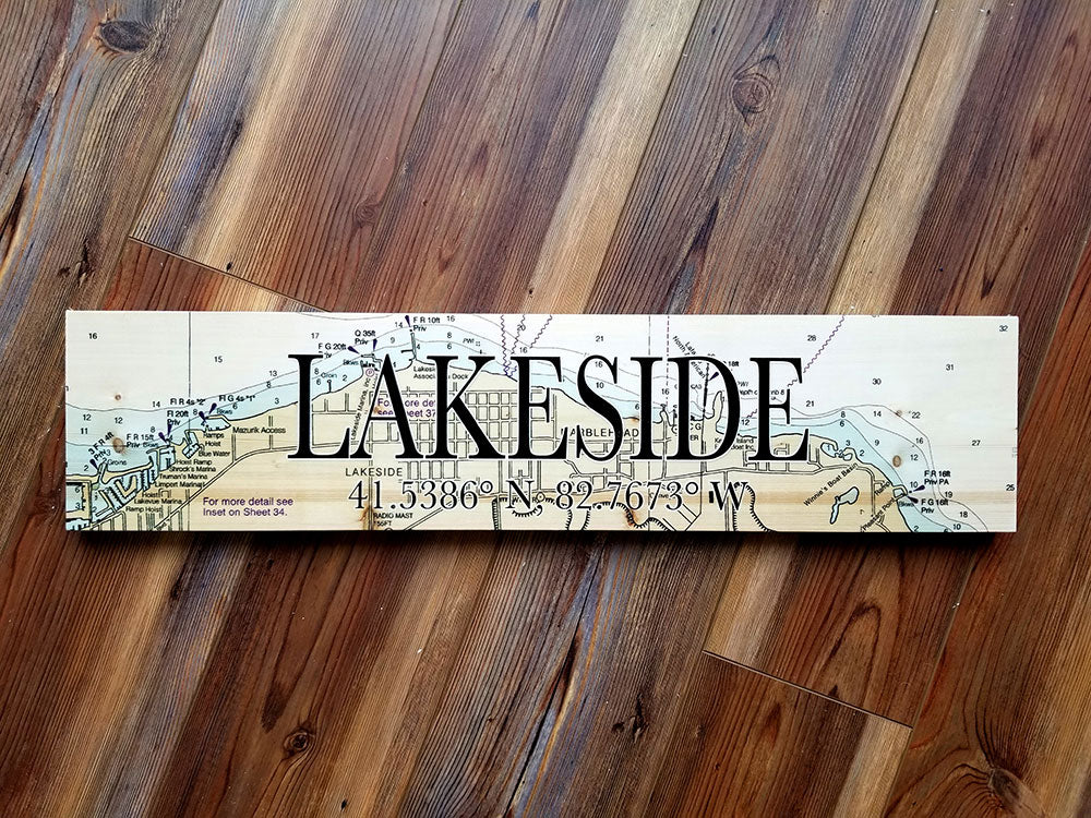 Lakeside, OH Coordinate Sign