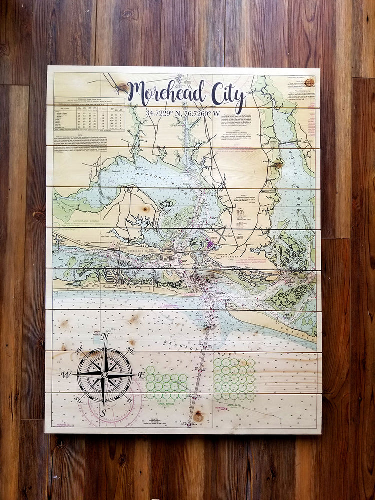Marblehead City, MA Statement Sized Pallet Maps