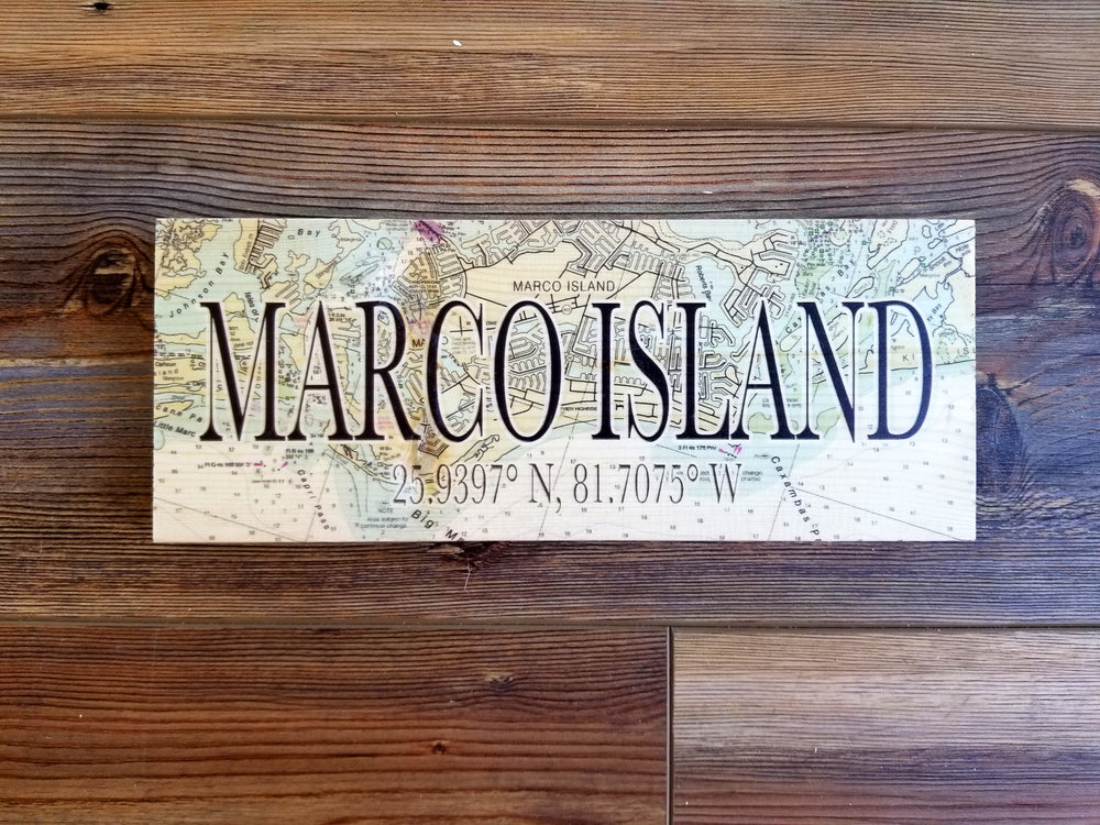 Marco Island, FL Mini Coordinate Sign