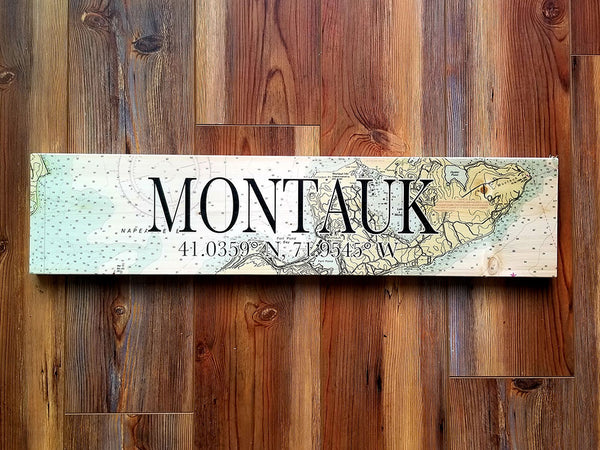 Montauk, NY Coordinate Sign