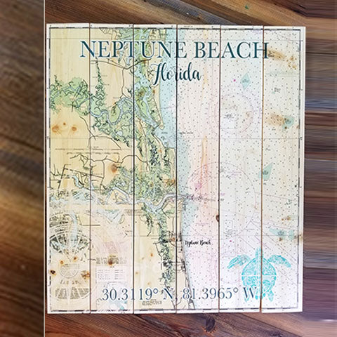 Neptune Beach, FL Pallet Map