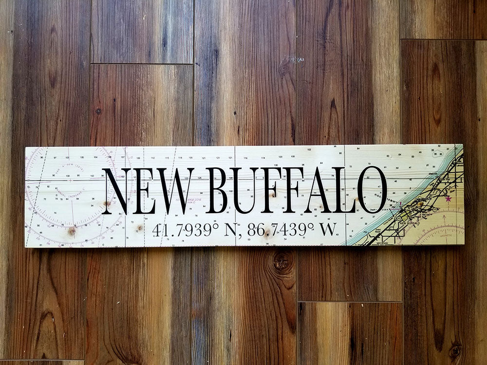 New Buffalo Coordinate Sign
