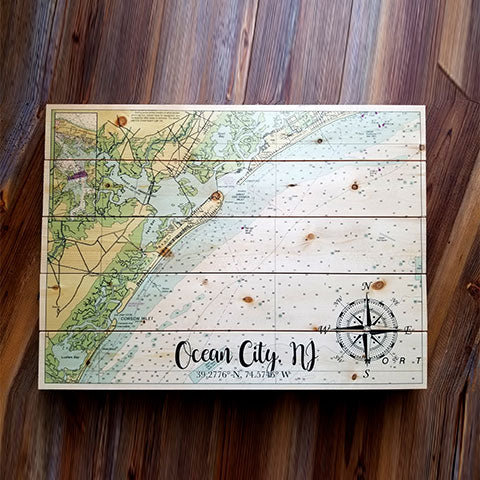 Ocean City, NJ Pallet Map