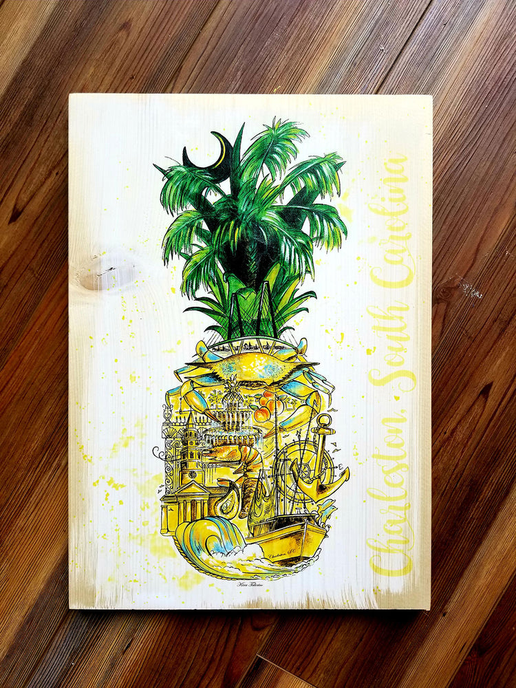 Pineapple Painting Charleston, SC Plank
