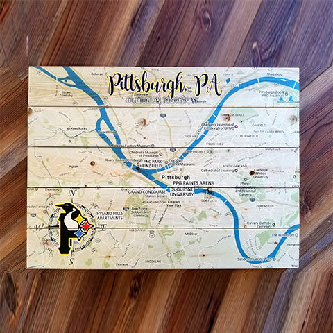 Pittsburgh, PA Pallet Map
