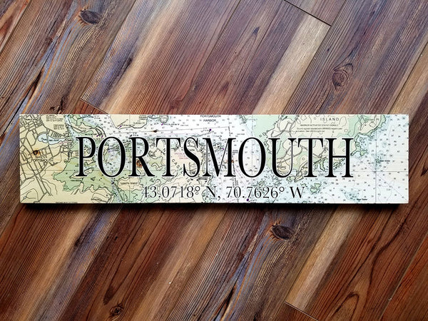 Portsmouth, NH Coordinate Sign