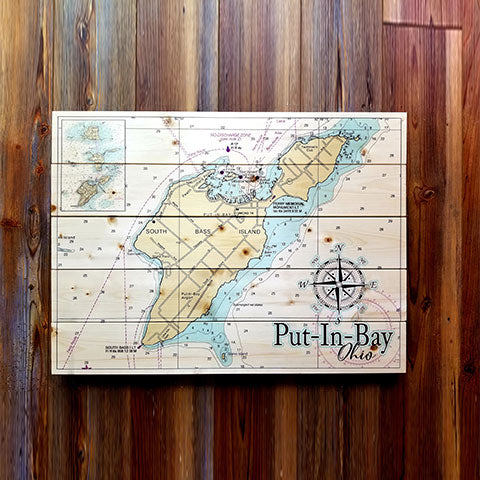 Put In Bay, OH Pallet Map