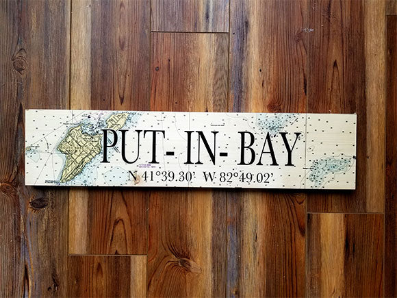Put in Bay, OH Coordinate Sign