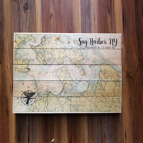 Sag Harbor, NY Pallet Map
