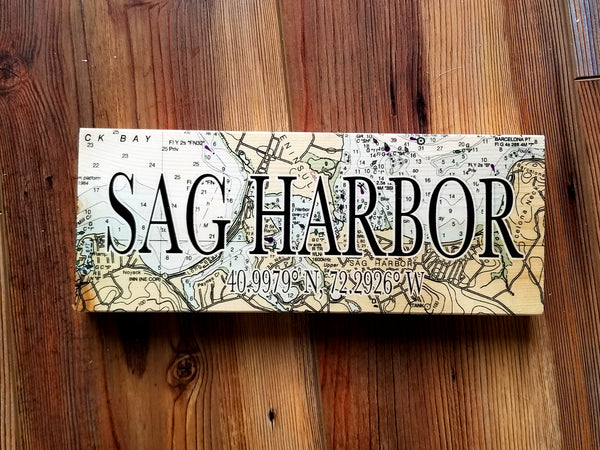Sag Harbor, NY Mini Coordinate Sign