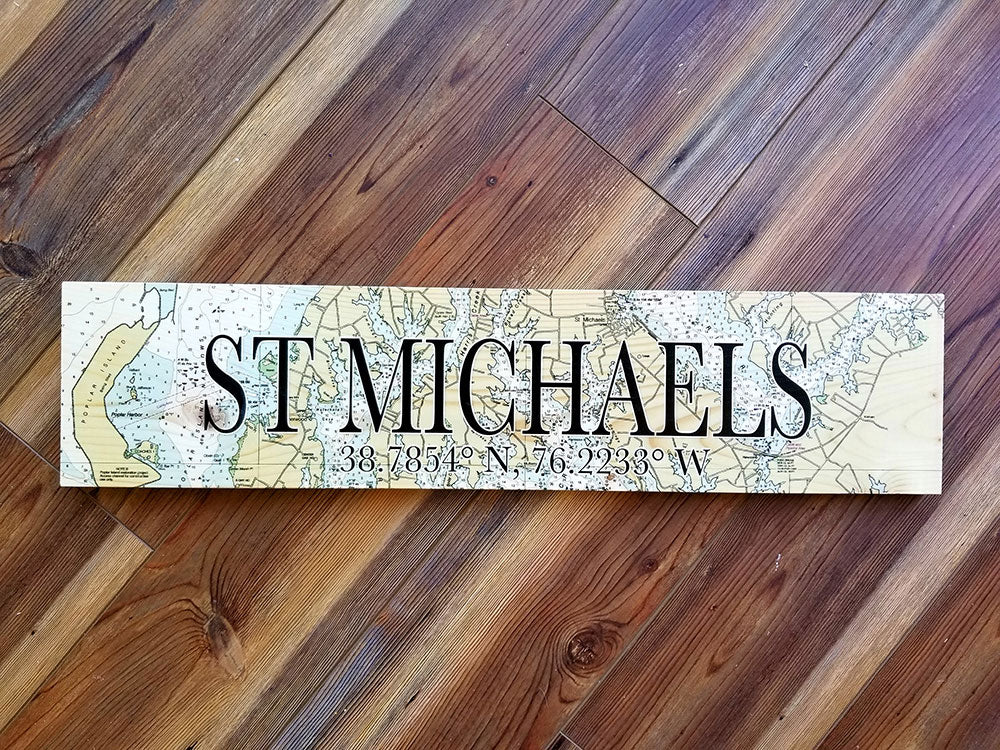 St Michaels MD Coordinate Sign